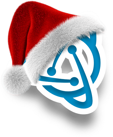 Midgard IT Christmas Logo Where its wearing a christmas hat